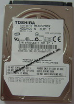 "New 80GB 2.5"" 9.5mm SATA Drive Toshiba MK8052GSX HDD2h05 Free USA Shipping"