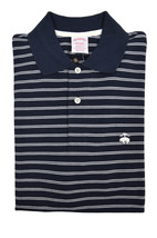 Brooks Brothers Mens Navy Blue Striped Original Fit  Polo Shirt Small S 3216-4 - $55.07