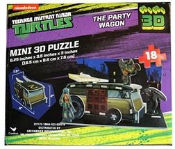 Teenage Mutant Ninja Turtles The Party Wagon Mini 3D Puzzle 18 Piece - $9.98