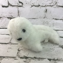 Vintage 1989 Fiesta Seal Pup Plush White Stuffed Marine Animal Soft Toy - $9.89