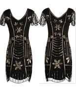 Women 1920s Charleston Flapper Costume Sequin Fringe 20s Gatsby Dress Si... - $55.00