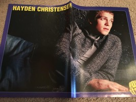 Hayden Christensen teen magazine poster clipping Popstar laying down bulge