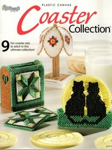 Plastic Canvas Coaster Collection Lighthouse, Quilts, Amish Tulips, Piano - $24.95