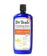 1 Bottle Dr Teal's 34 Oz Sooth & Comfort Oat Milk Argan OIl Foaming Epso... - $18.99
