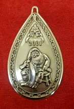 Waterford 2001 Sterling Silver Santa Ornament in Box First Edition - $49.00