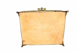 Vintage Regency Ornate Decorative Gold Gilt Tone Box Vanity Jewelry Trinket image 4