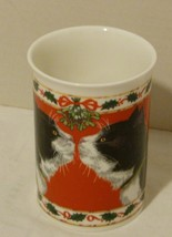 "Dunoon Fine Bone China Mug ""Kissing Cats"" Under The Mistletoe Made in En... - $2.98"