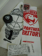 Florida Panthers 2 Hockey Towels Rubber Puck Ear Buds + Ticket Stub Memo... - $20.99