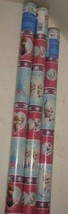 3 NEW Disney Frozen Elsa Anna Olaf Christmas Gift Wrapping Paper Rolls = 60sqft - $27.71