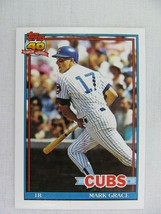Mark Grace Chicago Cubs 1991 Topps Baseball Card 520 - $0.98