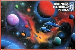 Ocean Fire with Dolphins 1000 Piece Fantasy Art Jigsaw Puzzle 1996 NEW SEALED - $38.69