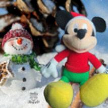 "Disney Mickey Mouse Santa Christmas Plush 10"" Tall - $12.00"