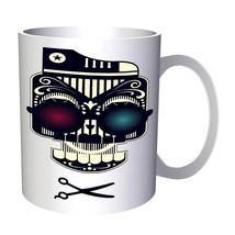 New Funny Sugar Skull Barber Art 11oz Mug i518 - $203,52 MXN