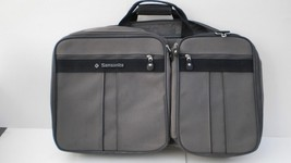 Vintage Samsonite Silhouette 4 Luggage Large Gray Soft Back Travel Carry... - $56.09