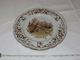 "Mark Roberts Ceramic Decorative Plate gold trim with birds Bird 10/1/4"" - $21.26"