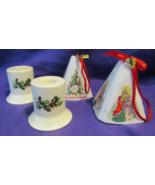 Christmas Candlesticks and Potpourri Bells  - $15.00