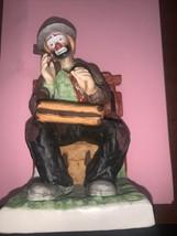 Beautiful Emmett Kelly Jr Clown Figurine.,with Cigar - $59.99