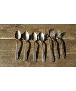 Vintage AMERICAN SILVER COMPANY Flatware 4 teaspoons 2 salad forks 1 din... - $19.79