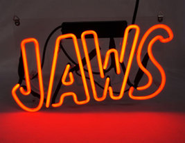 "New Jaws Bar Wall Decor Acrylic Back Neon Light Sign 14"" Fast Ship - $60.00"