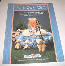1 Vintage 1987 Fibre Craft Little Bo Peep Pattern Leaflet Fibre Craft Le... - $7.99