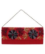 Handmade Womens Red Floral Clutch Purse Evening bag - $29.69