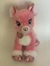 Build a Bear BAB Twinkle Deer Pink Reindeer Stuffed Animal Plush Sparkle... - $19.99