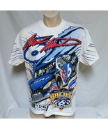 VTG 90s Mark Martin T Shirt Nascar Tee Racing Viagra All Over Print Ford... - $59.99