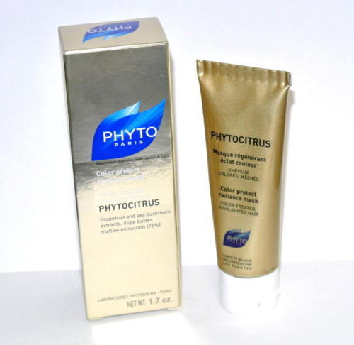 PHYTO Phytocitrus Color Protect Radiance Mask 1.7oz 50ml travel size new in box