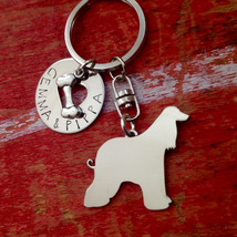 New Afghan Hound Custom Keychain.  Personalized. - $18.00