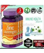 3 Pack ZINC 23mg LOZENGES Echinacea & Vitamin C Immune Defense Supplemen... - $23.26
