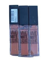 Maybelline Color Sensational Vivid Matte Liquid Lip Color #5 NUDE THRILL... - $13.49