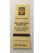 Vintage Matchbook Cover Matchcover Best Western Adobe Inn Santa Rosa NM ... - $1.43