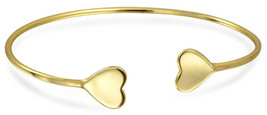 Minimalist Simple Engravable Heart Tip Bangle Cuff Bracelet For Women Fo... - $69.20