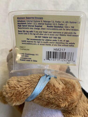 "Ganz Webkinz 9"" Chimpmunk Plush stuffed toy HM217. B2 Used nice Kids Doll Toy image 11"