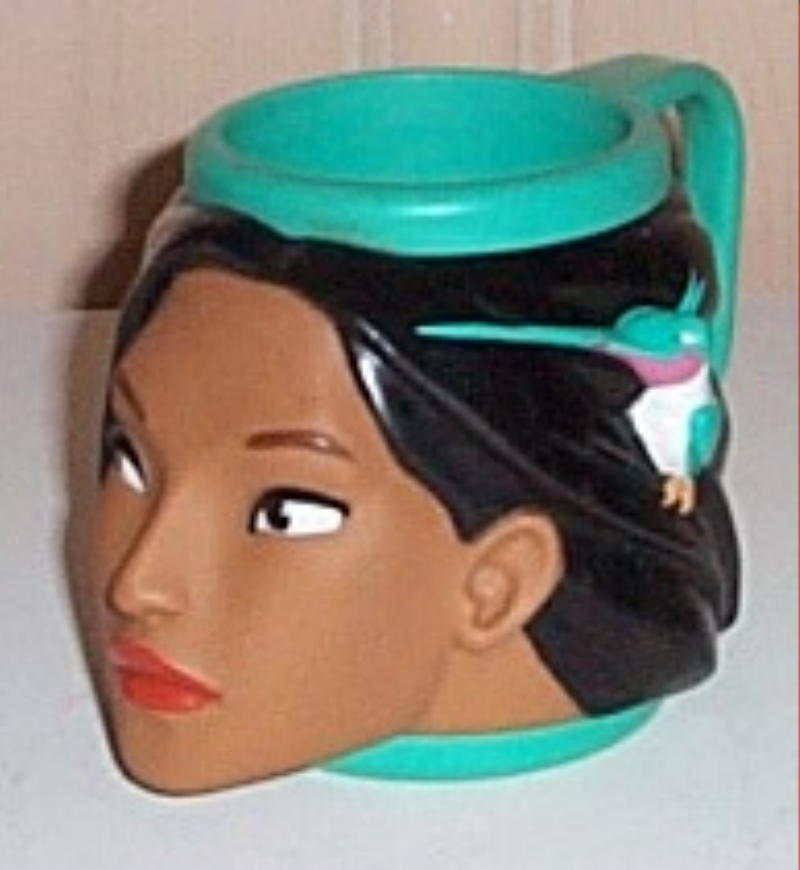 Primary image for Disney Pocahontas with HummingBird Flit Figural Composite Plastic Cup Mug
