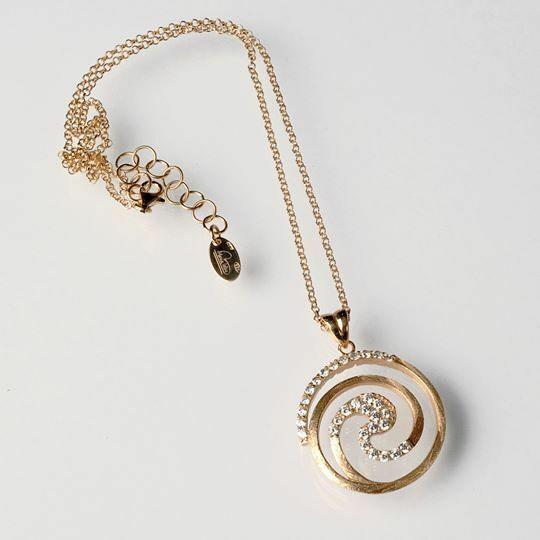 925 Silberne Halskette Laminat Gold Gelb,Rhodiniert By Maria Ielpo Made in Italy