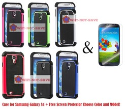 Dual Layer Hybrid Deluxe Rugged Hard Heavy Duty Case Cover for Samsung Galaxy s4 - $9.99+