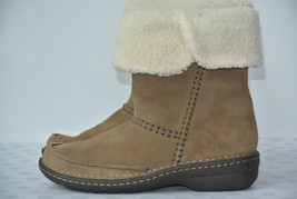 NEW Clarks Avington Grace Womens Sz 7.5 M Khaki Suede Leather Ankle Boot... - $64.34