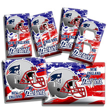 New England Patriots Nfl Super Bowl Champions Football Light Switch Outlet Plate - $8.99+