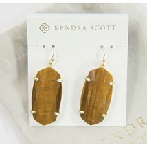 Kendra Scott Esme Gold Tigers Eye Faceted Drop Dangle Earrings NWT - $73.76