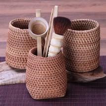 Handmade Tea Desktop Stationery Storage Box Bamboo Bottle Tea Tools Pen ... - $26.56 CAD+