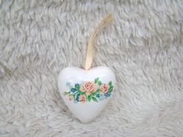 Ceramic Heart-Shaped Flower Designed Pomander Decorative Home Decor - $6.95