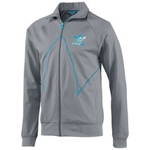 NEW ADIDAS ORIGINALS CUT LINE TT TRACK TOP JACKET XL TECH GREY TURQUOISE... - $51.41