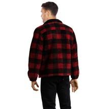 Levi's Men's Premium Button Up Sherpa Trucker Jacket Crimson Buffalo 526380000 image 2