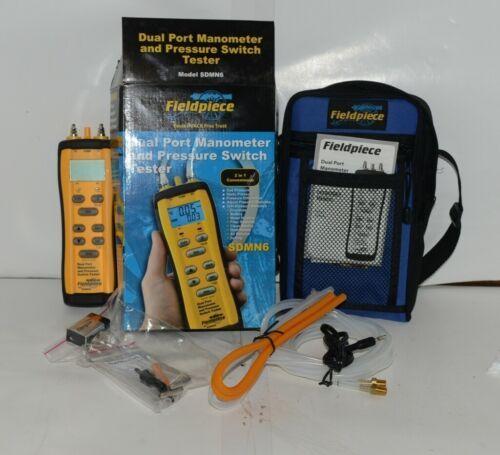 Fieldpiece SDMN6 Dual Port Manometer Pressure Switch Tester Padded Case
