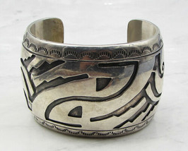925 Sterling Silver - Industrial Woven Design 44.5mm Heavy Cuff Bracelet... - $373.02