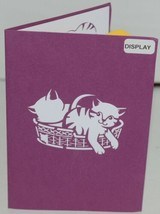 Lovepop LP1153 Cat Family Pop Up Card White Envelope Cellophane Wrapped image 2