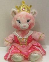 """Build A Bear Pink Tie Dye Princess Kitty Cat 16"""" Plush Aurora Dress Crown Doll - $9.99"""