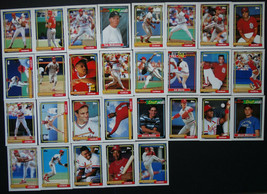 1992 Topps St. Louis Cardinals Team Set of 29 Baseball Cards - $5.99