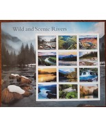 Wild and Scenic Rivers USPS Stamp Sheet of 12 Stamps 2019 MNH - $8.95
